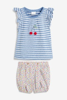 Stripe T-Shirt And Shorts Set (3mths-7yrs)