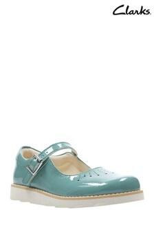 Clarks Teal Crown Jump K Shoe
