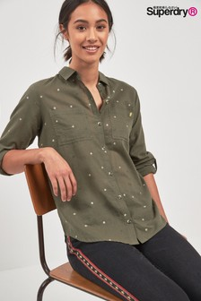 Superdry Khaki Star Shirt