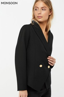 Monsoon Ladies Black Daryl Dinner Jacket