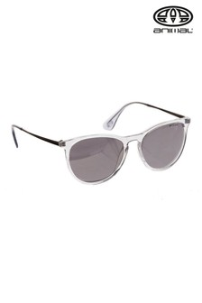 Animal Grey Spotlight Round Slim Frame Sunglasses