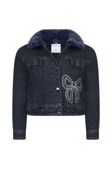 Girls Navy Cotton Denim Jacket