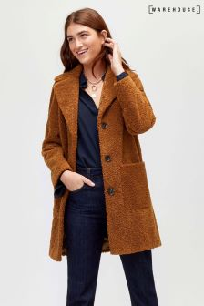 Warehouse Teddy Faux Fur Coat