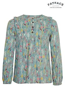 FatFace Pretty Aqua Lucy Enchanted Forest Blouse