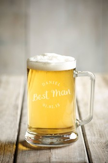 Personalised Best Man Beer Tankard by Loveabode