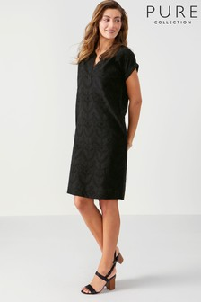Pure Collection Black Broderie Anglaise Dress