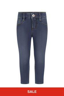Lanvin Boys Blue Cotton Jeans