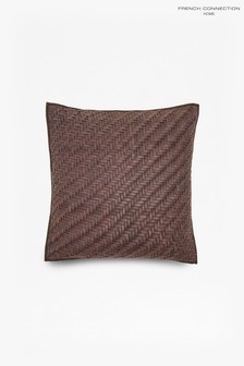 French Connection Braided Leather Cushion