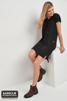 Barbour® International Black Meribel Oversized T-Shirt Dress