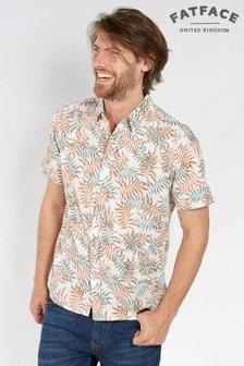 Koszula w kolorze ecru z nadrukiem FatFace Hartland