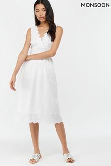 Vestido de verano en blanco Axel Shiffly de Monsoon Ladies