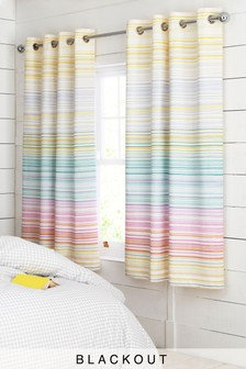 Heidi Stripe Eyelet Curtains