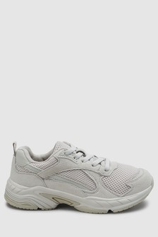 Elastic Lace Chunky Trainers (Older)