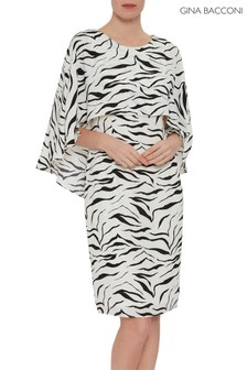 Gina Bacconi Animal Riona Zebra Print Dress