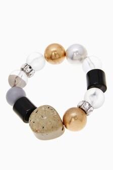 Multicoloured Stone Stretch Bracelet