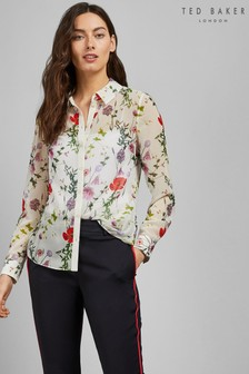 Ted Baker Ivory Printed Shirt