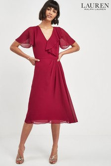 Lauren Ralph Lauren® Garnet Wrap Frill Dress
