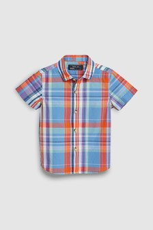 Элегантная рубашка с коротким рукавом (3 мес.-7 лет)