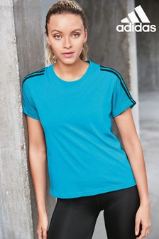 adidas 3 Stripe Mesh T-Shirt