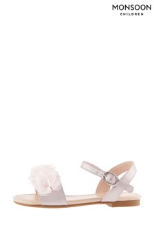 Monsoon Pink Corsage Shimmer Sandals