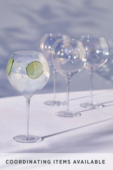 Paris Lustre Effect Set of 4 Gin Glasses
