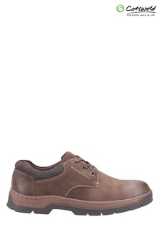Cotswold Brown Thickwood Burnished Leather Casual Shoes