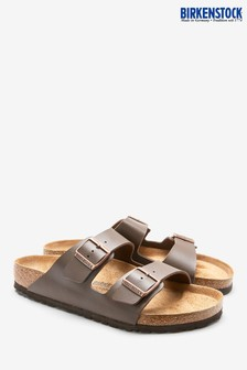 Birkenstock® Men's Dark Brown Arizona Sandal