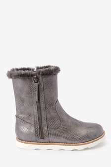 Faux Fur Trim Boots (Older)