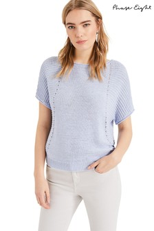Phase Eight Blue Tillie Knit Top