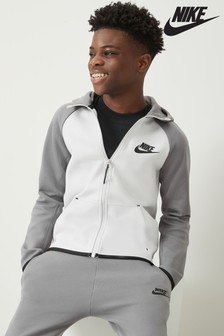 Nike Grey Tech Fleece Full Zip Hoody