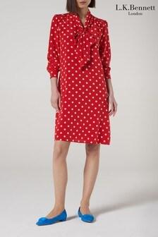 L.K.Bennett Red Evia Dress