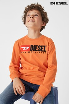 Diesel® Kids Just Division Long Sleeve T-Shirt