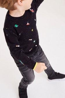 繡花太空圖案套衫 (3個月至7歲)