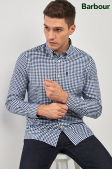 Barbour® Navy Stapleton Oxford Gingham Shirt