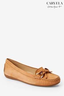 Carvela Comfort Tan Cally Nubuck Loafer