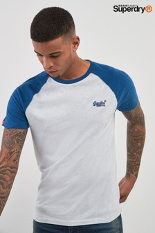 Superdry White Baseball Tee