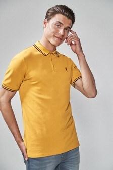 Эластичная рубашка поло с окантовкой