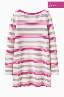 Joules Purple Stripe Jemma Longline Jersey Top