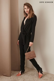 Sofie Schnoor Black Wrap Jumpsuit