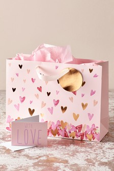 Heart Bag, Card and Tissue Set