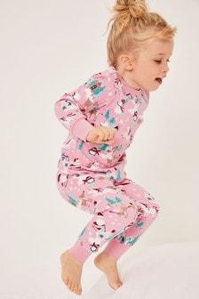 Pijama cu Moș Crăciun din pluș (9 luni - 12 ani)