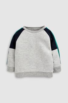 Комбинированная футболка с вырезом под горло (3 мес.-7 лет)