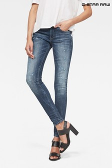 G-Star D-Staq Skinny Jeans mit mittelhohem Bund