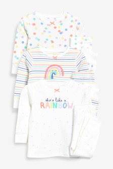 Rainbow Snuggle Pyjamas Three Pack (9mths-8yrs)