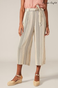 Phase Eight Neutral Arizona Striped Culottes