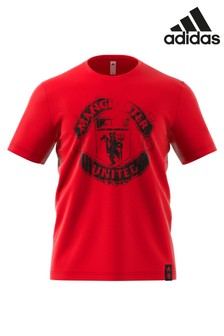 adidas Red Manchester United Tee