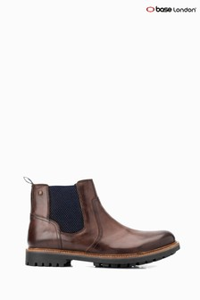 Base London® Brown Cache Burnished Pull-On Boots
