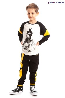 Fabric Flavours Black Batman Gotham Defender Joggers