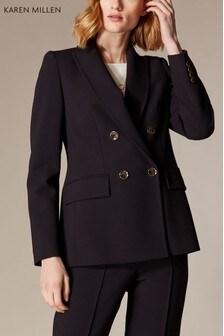 Karen Millen Black Sleek & Sharp Summer Collection Jacket