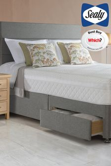 2200 Pocket Hybrid Mattress, Divan And Headboard By Sealy